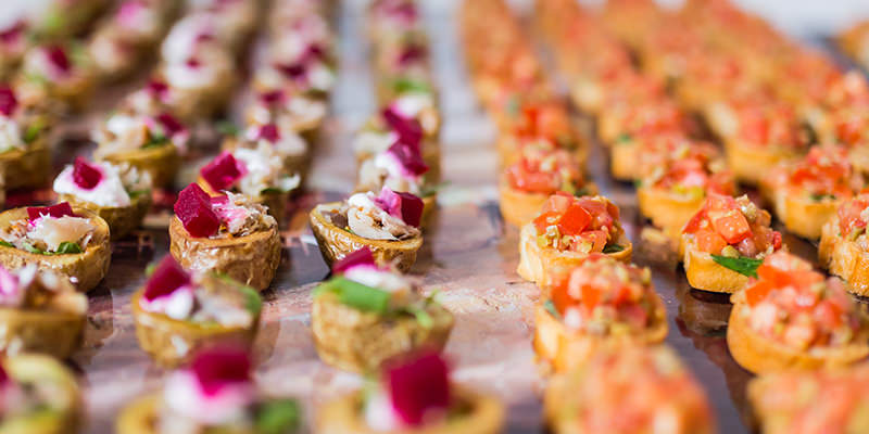 Grazing table, Canapes & Substansials